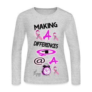 Lady's MAKING A DIFFERENCE 1 WOMAN AT A TIME - Women's Long Sleeve Jersey T-Shirt