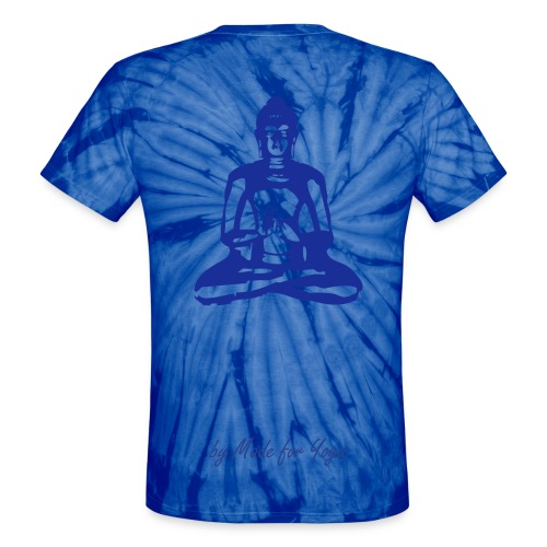 Tie-dye by Made for Yoga with back design - Unisex Tie Dye T-Shirt