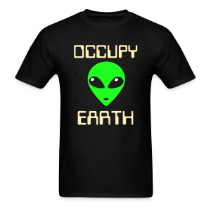 Occupy Earth Glow in the Dark Ink - Men's T-Shirt