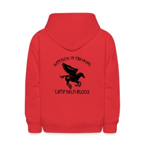 CAMP Pegasus Half-Blood Kids Hoodie -  Front and Back Print - Kids' Hoodie