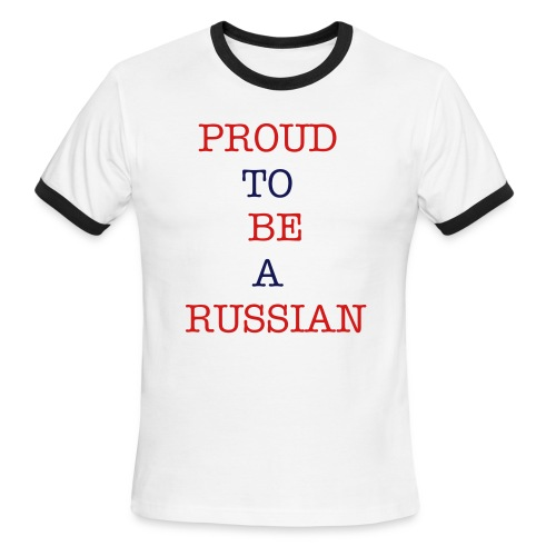 proud to be a russian - Men's Ringer T-Shirt