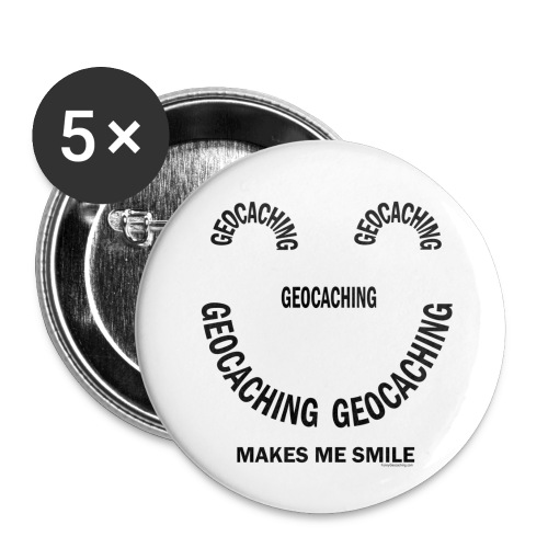 Geocaching Smile - Buttons small 1'' (5-pack)