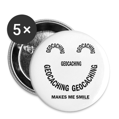 Geocaching Smile - Buttons large 2.2'' (5-pack)