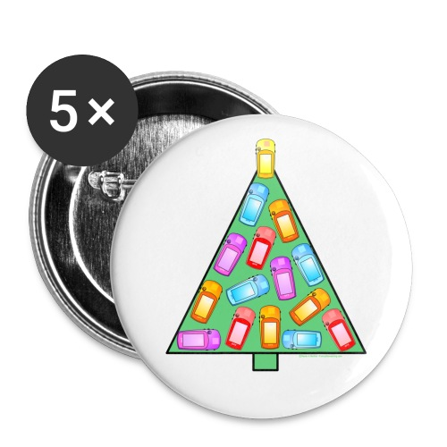 GPS Christmas Tree - Buttons large 2.2'' (5-pack)
