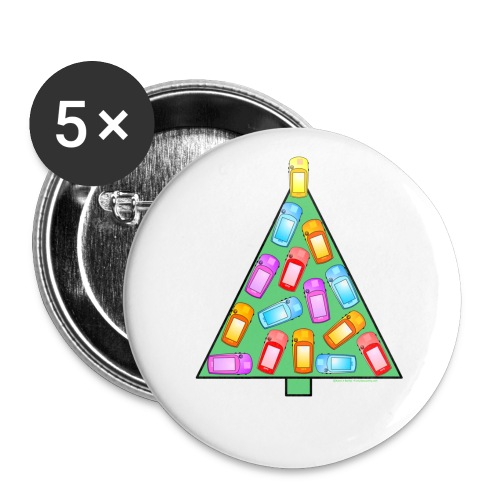 GPS Christmas Tree - Buttons small 1'' (5-pack)