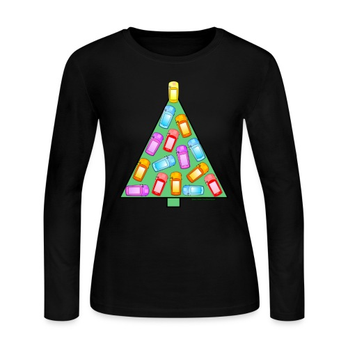 GPS Christmas Tree - Women's Long Sleeve Jersey T-Shirt