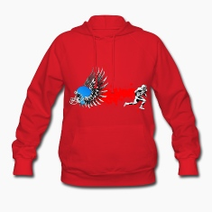 FootBall grunge wings Hoodies