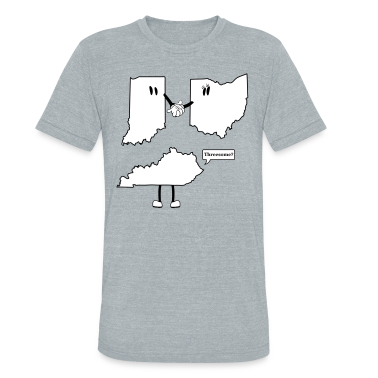 Tri-State Threesome Shirt - Ohio, Indiana and Kentucky  T-Shirts