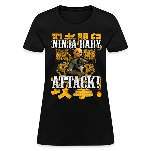 Ninja Baby Womens T-Shirt - Women's T-Shirt