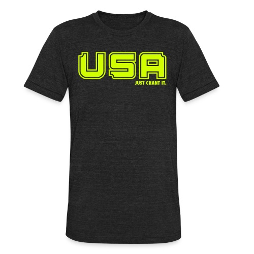 USA Just Chant It - Unisex Tri-Blend T-Shirt