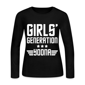 [SNSD] Genie Yoona - Women's Long Sleeve Jersey T-Shirt