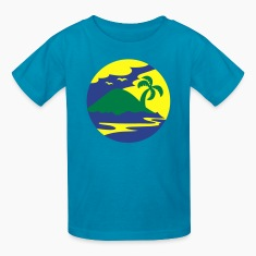 awesome island in a circle Holiday!!! Kids' Shirts