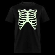 T-Shirts ~ Men's T-Shirt ~ SKELETON RIB CAGE - GLOW-IN-THE-DARK T-Shirt