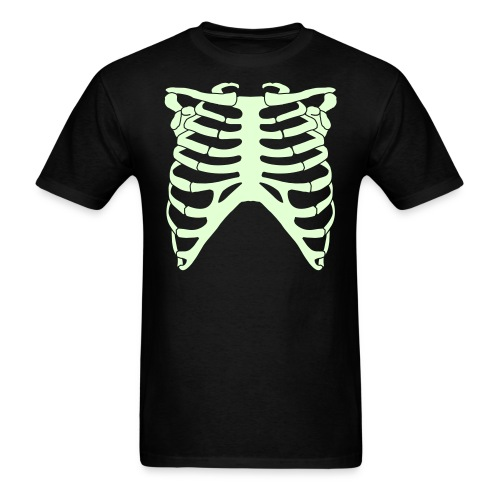 SKELETON RIB CAGE - GLOW-IN-THE-DARK T-Shirt - Men's T-Shirt