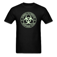 T-Shirts ~ Men's T-Shirt ~ ZOMBIE OUTBREAK RESPONSE TEAM T-Shirt GLOW-IN-THE-DARK T-Shirt