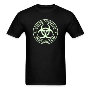 ZOMBIE OUTBREAK RESPONSE TEAM T-Shirt GLOW-IN-THE-DARK T-Shirt - Men's T-Shirt