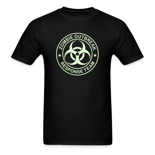 ZOMBIE OUTBREAK RESPONSE TEAM T-Shirt GLOW-IN-THE-DARK T-Shirt - Men's T-Shirt