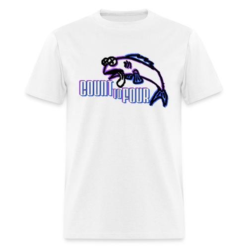 White AA Fish Tee - Men's T-Shirt