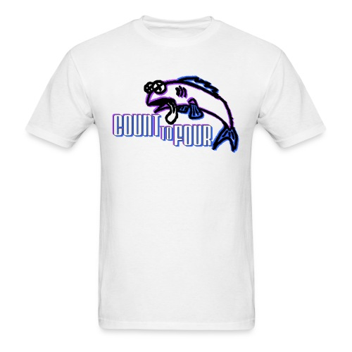White AA Fish Tee - Men's T-Shirt