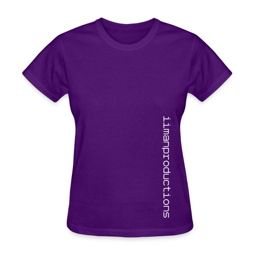 Vertical Words (Purple) - Womens - Women's T-Shirt