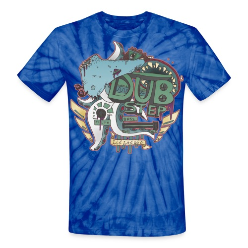 Dyed Dubstep Monsters BLUE - Unisex Tie Dye T-Shirt