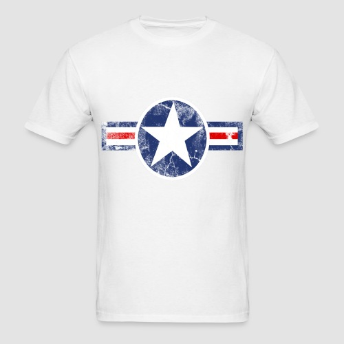 Vintage Patriotic Star, Red White and Blue Logo T-Shirt T-Shirt ...