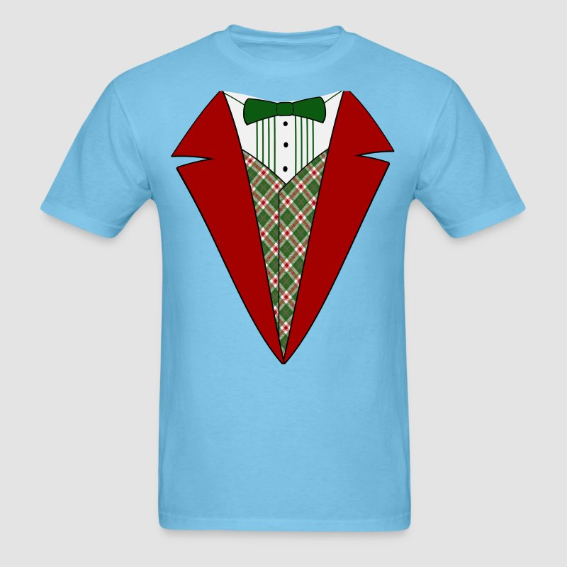 Funny Christmas Tuxedo, Red and Green Tux T-Shirt T-Shirt | Cool ...