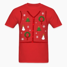 Funny Ugly Christmas Sweater Vest Design T-Shirt