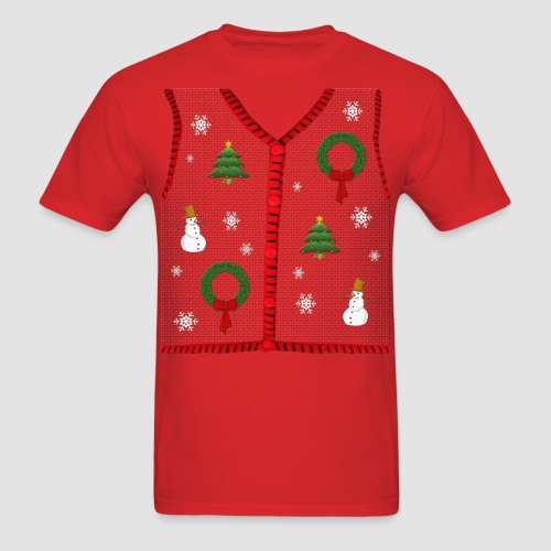 Funny Ugly Christmas Sweater Vest T-Shirt T-Shirt | Cool Custom T ...