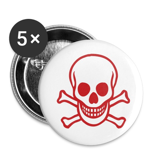 Skull And Crossbones Small Buttons - Small Buttons