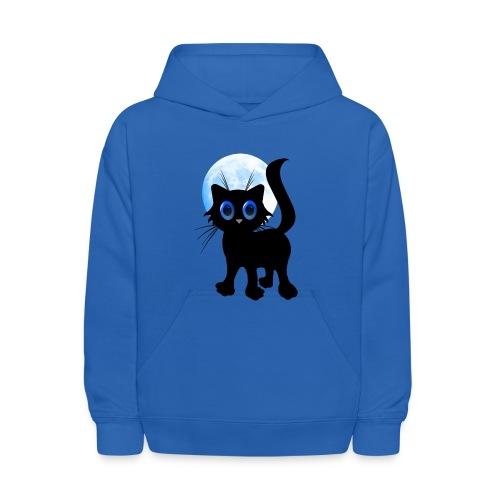 Black Halloween Kitten - Kids' Hoodie