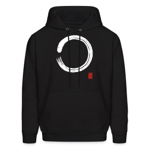 Men's White Enso Hooded Sweat Shirt - Men's Hoodie