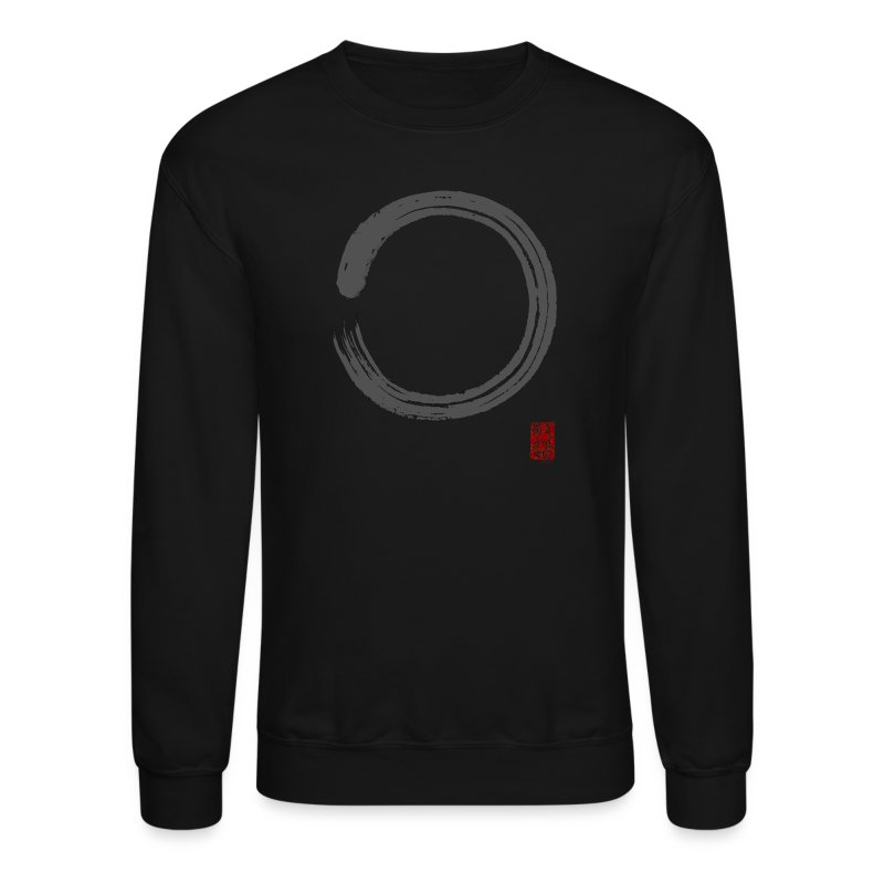 Men's Gray Enso Sweat Shirt - Crewneck Sweatshirt