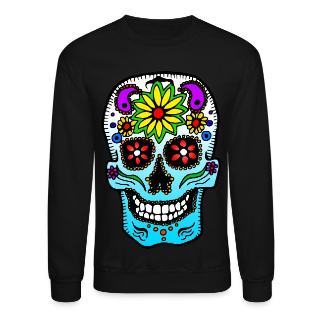 liquid wax clothing calavera de azúcar sugar skull sweatshirt