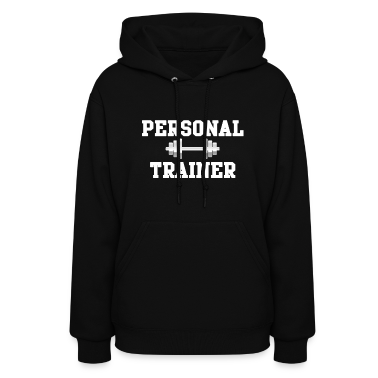 Personal Trainer Fitted Women's Hooded Sweatshirt