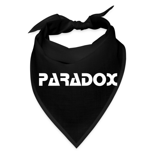 PARADOX MERCH Bandanna Black W/ White Print - Bandana