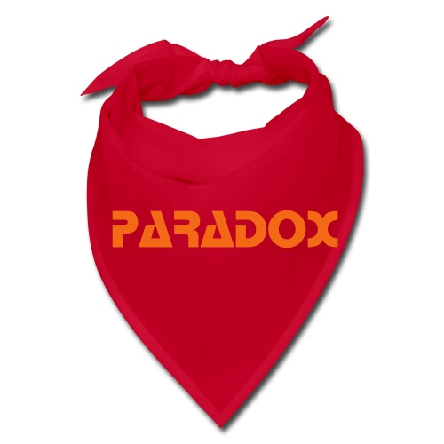 PARADOX MERCH Bandanna Red W/ Orange Print - Bandana