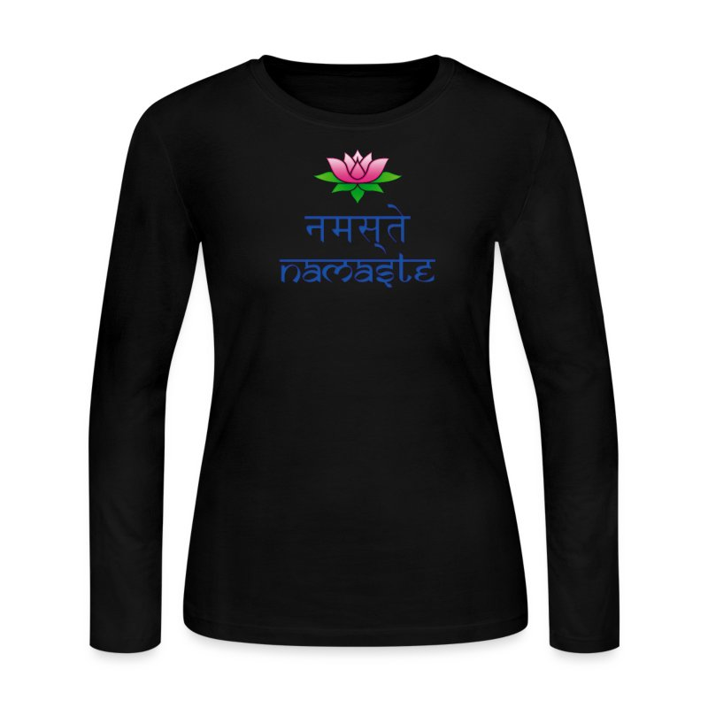 Women's Namaste Long Sleeve T-Shirt - Women's Long Sleeve Jersey T-Shirt