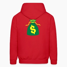 green money bag dollars $ Hoodies