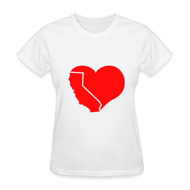 California Heart Women's T-Shirts
