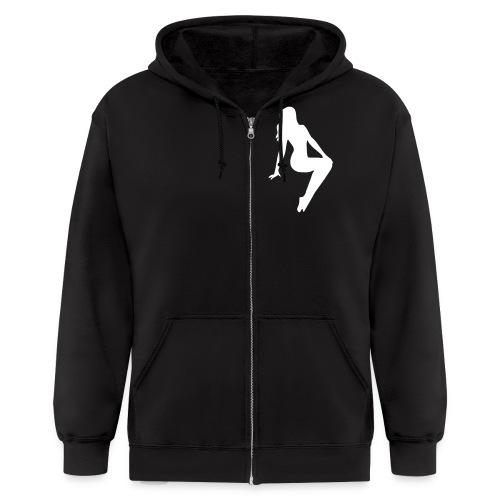 Graffiti Junky black+White Hoodie - Men's Zip Hoodie