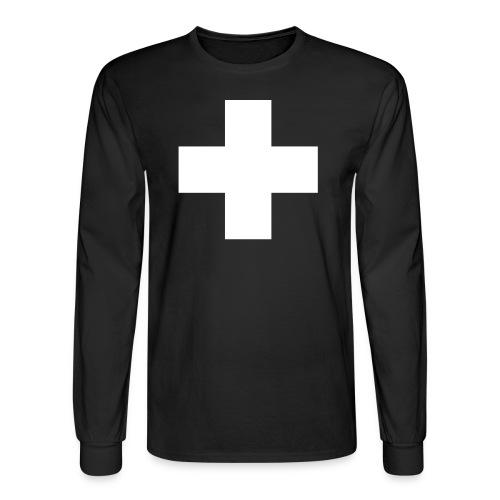 G.J. black+white long sleeve shirt - Men's Long Sleeve T-Shirt