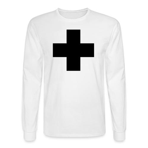 G.J. white+black long sleeve shirt - Men's Long Sleeve T-Shirt