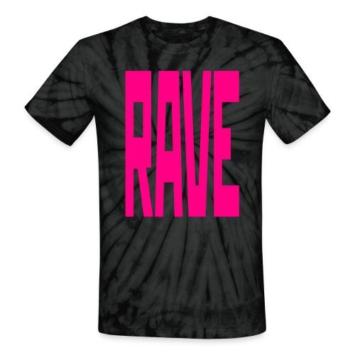 Tie Die RAVE T-Shirt - Unisex Tie Dye T-Shirt