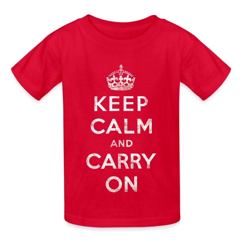 Keep calm crown white