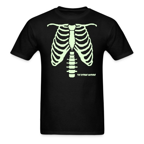 Men's glow in the dark skeleton ribcage shirt - Men's T-Shirt