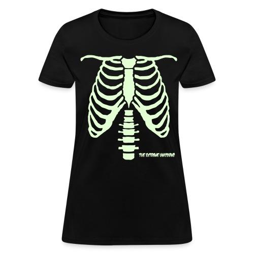 Women's glow in the dark skeleton  - Women's T-Shirt