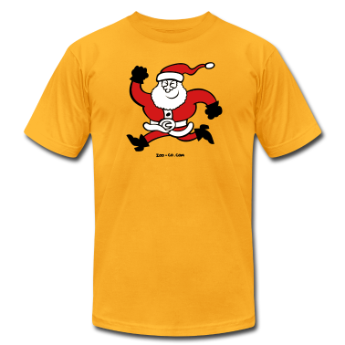 Running Santa Claus T-Shirts