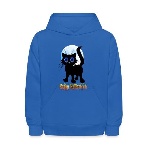 Happy Halloween Black Kitten - Kids' Hoodie