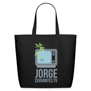 Jorge Cervantes TV Eco-Friendly Handbag (Metallic Silver) - Eco-Friendly Cotton Tote